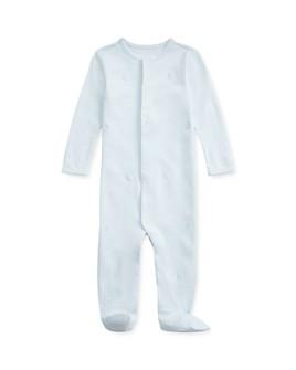 Ralph Lauren - Boys' Cotton Interlock Embroidered Bunny Footie - Baby