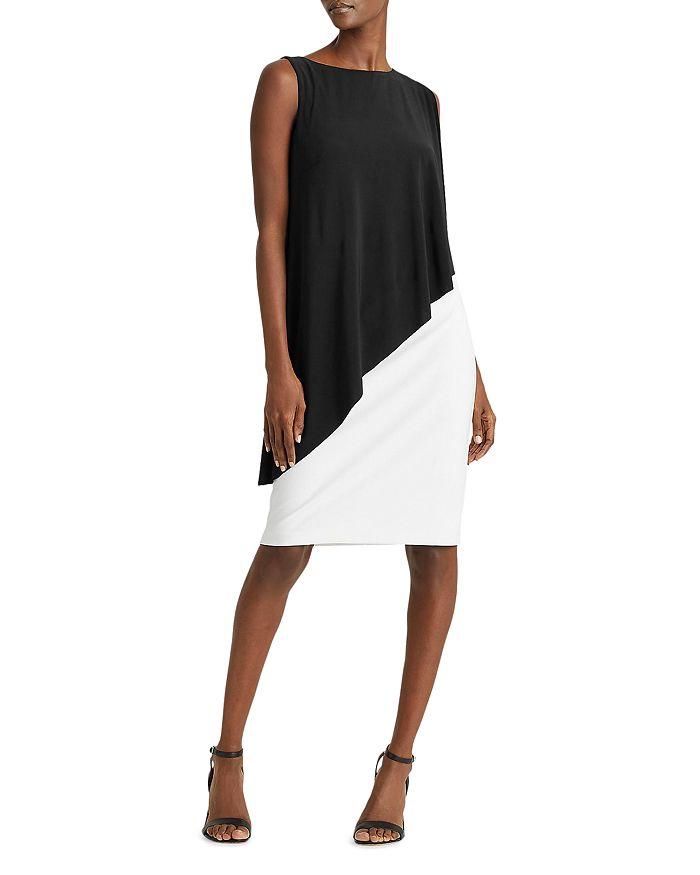Ralph Lauren - Sleeveless Asymmetric-Cape Dress