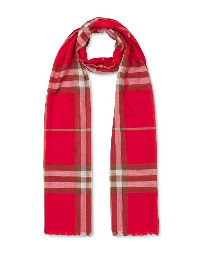 Burberry - Check Gauze Wool & Silk Gauze Scarf
