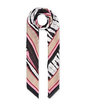Burberry - Painted Zebra Cotton & Silk Square Scarf