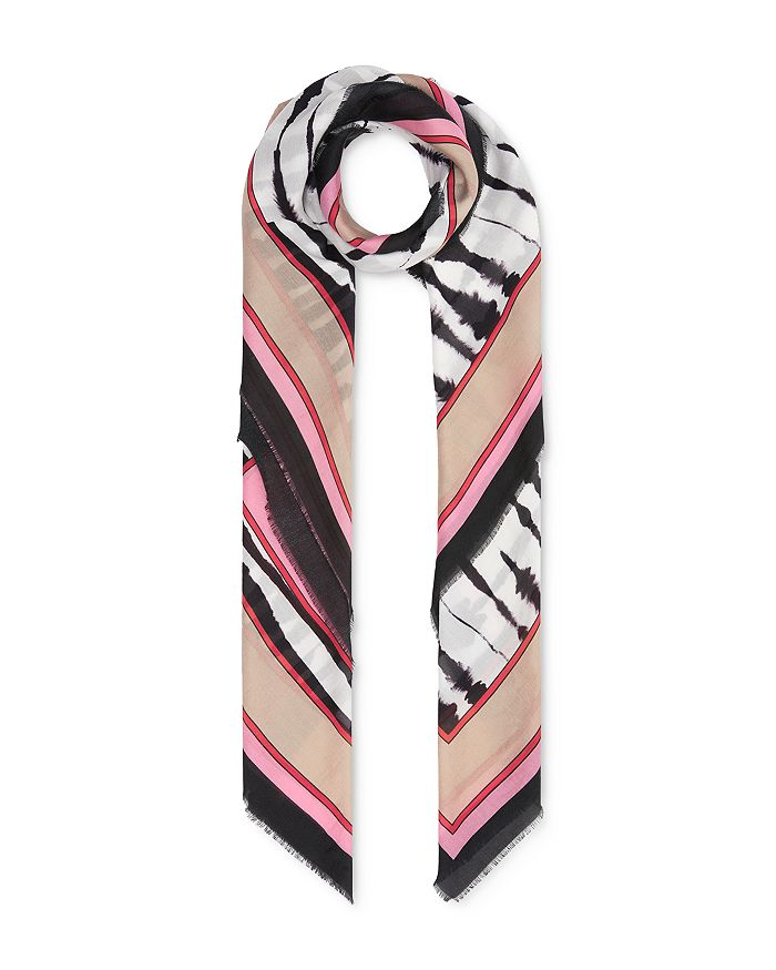 Burberry - Painted Zebra Cotton & Silk Square Scarf