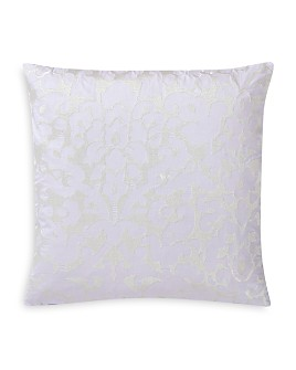 "Charisma - Medici Damask Embroidered Decorative Pillow, 20"" x 20"""