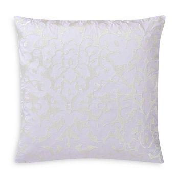 "Charisma - Medici Damask Embroidered Decorative Pillow, 20"" x 20"""