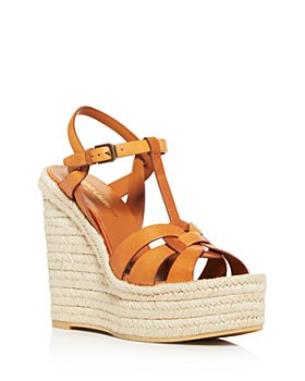 Saint Laurent - Women's Espadrille Platform Wedge Sandals