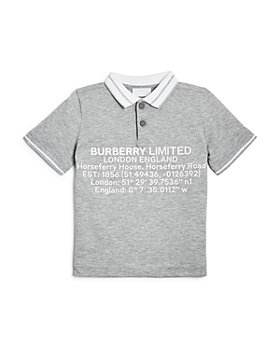Burberry - Boys' Rossal Logo Polo Shirt - Little Kid, Big Kid
