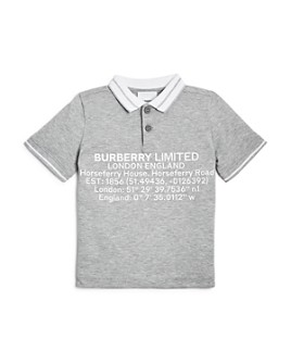 Burberry - Boys' Rossal Logo Polo Shirt - Little Kid, Big Kid