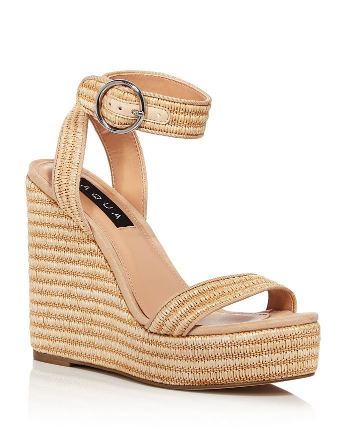 AQUA - Women's Sally Espadrille Platform Wedge Sandals - 100% Exclusive