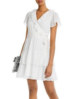 AQUA - Clip-Dot Faux-Wrap Dress - 100% Exclusive
