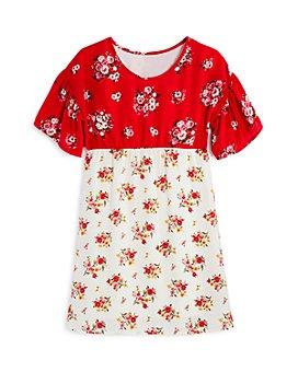 AQUA - Girls' Mixed-Print Dress - Big Kid - 100% Exclusive