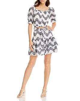 AQUA - Puff-Sleeve Top & Tiered Skirt - 100% Exclusive
