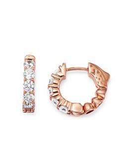 Bloomingdale's - Diamond Huggie Hoop Earrings in 14K Rose Gold, 1 ct. t.w. - 100% Exclusive