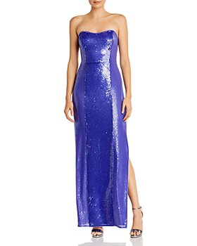 Aidan by Aidan Mattox - Strapless Sequinned Gown - 100% Exclusive