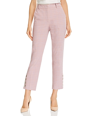 Tailored Rebecca Taylor Plaid Printed Pants-Women