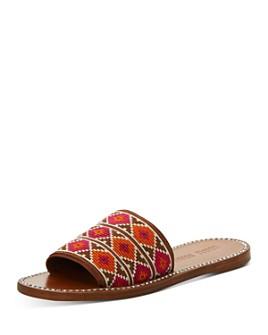 Miu Miu - Women's Calzature Donna Embroidery Slide Sandals