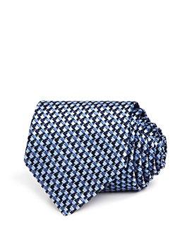 Ermenegildo Zegna - Multi-Square Grid Silk Classic Tie