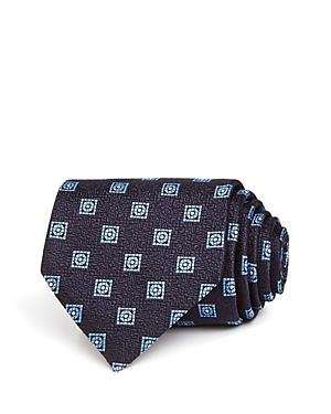 Ermenegildo Zegna Circle & Square Silk Classic Tie-Men