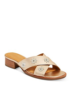 Jack Rogers - Women's Rondelle City Crossover Strap Stacked-Heel Sandals