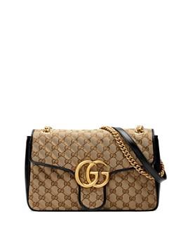 Gucci - Marmont GG Canvas Medium Leather Shoulder Bag