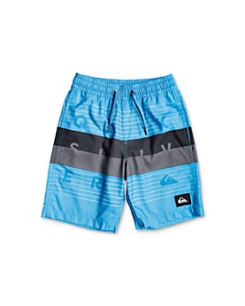 Quiksilver - Boys' Volley Color-Blocked Swim Trunks - Little Kid, Big Kid