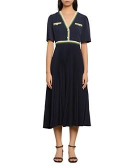 Sandro - Cruise Pleated Midi Dress
