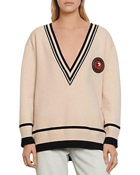 Sandro - Palm Varsity-Style Sweater