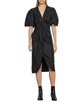 Sandro - Bloane Ruched Midi Dress