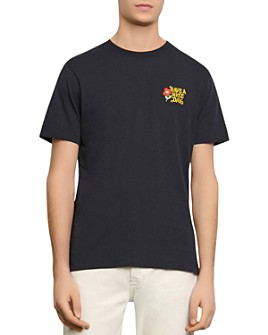 "Sandro - ""Have a Nice Day"" Embroidered Tee"