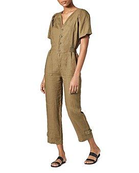 Joie - Bramwell Linen Smocked-Waist Jumpsuit