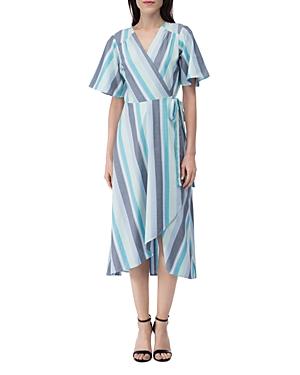 Orna Striped Wrap Dress