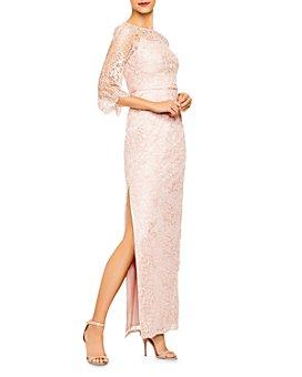 Aidan Mattox - Lace Column Gown