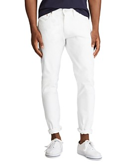 Polo Ralph Lauren - Sullivan Cotton Distressed Slim Fit Jeans in Stillwell White