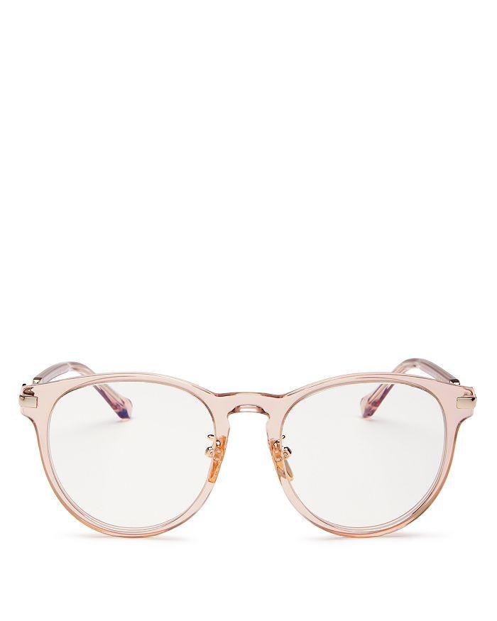 Karen Walker - Women's Philo Round Blue Light Glasses, 51mm