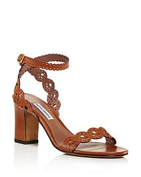 Tabitha Simmons - Women's Bobbin Perforated Lace Slingback Block-Heel Sandals