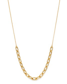 Zoë Chicco - 14K Yellow Gold Heavy Metal Chain Link Necklace, 16-18""