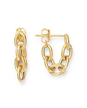 Zoë Chicco - 14K Yellow Gold Heavy Metal Oval Link Huggie Hoop Earrings