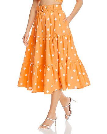For Love & Lemons - Auburn Dot Midi Skirt