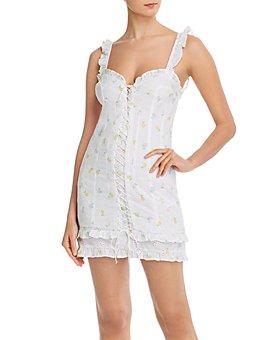 For Love & Lemons - Azalea Cotton Eyelet Mini Dress