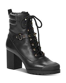 Valentino Garavani - Women's High-Heel Studded Strap Combat Boots