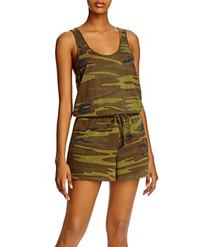 ALTERNATIVE - Camo Print Romper - 100% exclusive