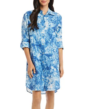 Karen Kane - Linen Tie-Dyed Shirtdress