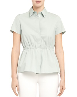 Theory - Cinched Short-Sleeve Shirt