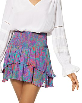 Ramy Brook - Jackson Silk Printed Mini Skirt