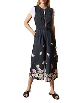 Ted Baker - Cosetee Pergola Print Cropped Jumpsuit