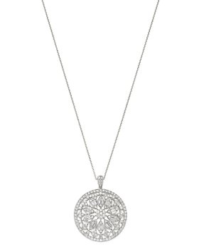 "Bloomingdale's - Diamond Medallion Pendant Necklace in 14K White Gold, 2.80 ct. t.w., 16-18"" - 100% Exclusive"