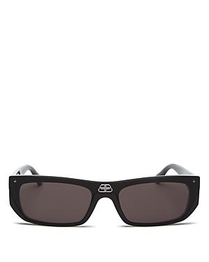 Balenciaga Unisex Rimless Square Sunglasses, 99mm-Jewelry & Accessories