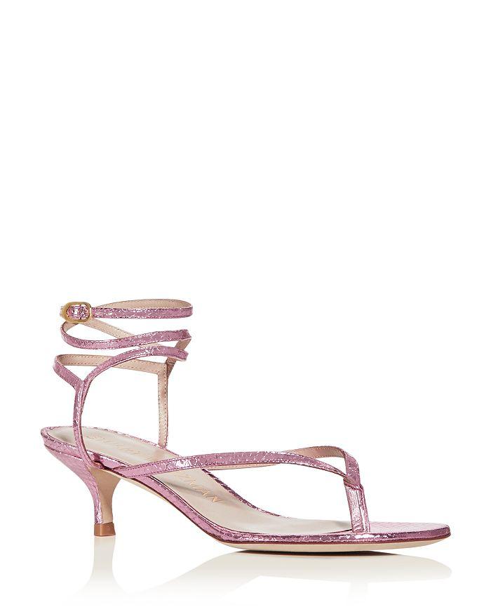 Stuart Weitzman - Women's Jimena 50 Kitten-Heel Strappy Sandals