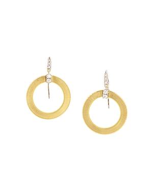 Marco Bicego 18K White & Yellow Gold Masai Diamond Circle Drop Earrings