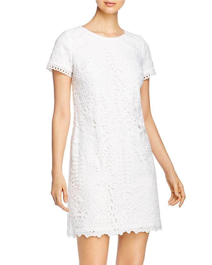 KARL LAGERFELD PARIS - Short-Sleeve Lace Dress