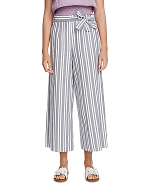 Image of 1.state Cotton Canvas Striped Wide-Leg Pants