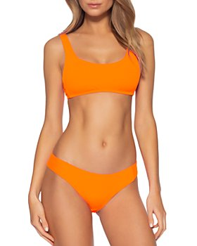 BECCA® by Rebecca Virtue - Fine Line Ribbed Bikini Top & Fine Line Ribbed Bikini Bottom